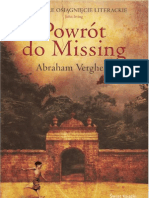 Abraham Verghese - Powrót do Missing