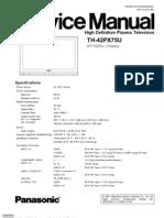 3545737 Panasonic TH42PX75U Chassis GP10DHU TV Plasma Service Manual