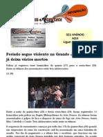Feriado segue violento na Grande João Pessoa e já deixa vários mortos