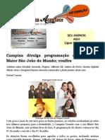 Campina divulga programação completa do Maior São João do Mundo; confira