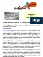Portal detalha verbas de convênios