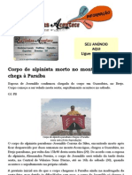 Corpo de alpinista morto no monte Aconcágua chega à Paraíba