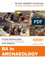Archaeology in English New Study Programme in Alba Iulia, 2013-2014