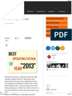 Best Operating Systems 2013