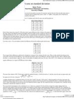 A Note on Standard Deviation