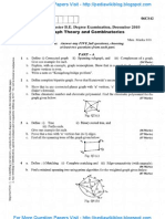 Graph Theory & Combinatorics Dec 2010