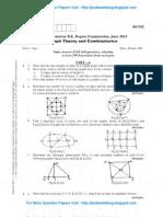 Graph Theory & Combinatorics June 2012