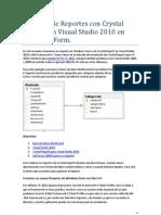 Creación de Reportes con Crystal Report con Visual Studio 2010 en WinForm