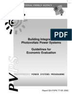 Building Integrated Photovoltaic Power Systems Guidelines for Economic Evaluation