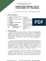 PROGRAM.  Educación para el Trabajo. 2013- 1º, 2º, 3º, 4º y 5º