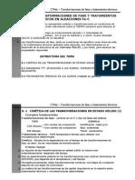 Transformaciones de Fase y Tratamiento Termico Fe - C