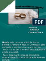 Nuntirea Andreea Gavrila