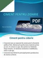 Ciment Pentru Zidarie- Radu Raluca