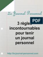 3 règles incontournables pour tenir un journal personnel