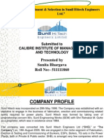 """Recruitment & Selection in Sunil Hitech Engineers Ltd."""
