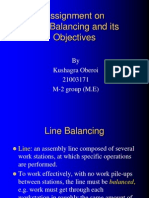 Assignment on Line Balancing (Roll No. 21003171)
