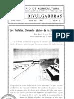 Los fosfatos,elemento basico de la agricultura -Mº Agric 1941