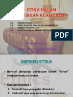 Etika Dalam Penyelidikan Kualitatif