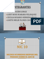 Exposición de NIC         10 11 12 y 16