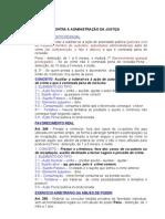 TRABALHO DE PENAL  -  DOS CRIMES CONTRA A JUSTIÇA PAPITO