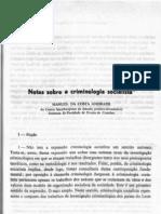 ANDRADE, Manuel Da Costa - Notas Sobre a Criminologia Socialista