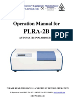 Manual Instrucciones Polarimetro Automatico Modelo Plra2b