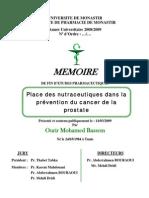 La Place Des Nutraceutiques Dans La Prévention Du Cancer de La Prostate