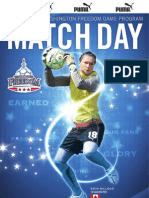 Low Res Example of Match Day Guide for Washington Freedom - August 2010 -- Includes printer's marks