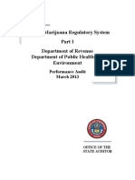 Colorado audit of medical marijuana enforcement