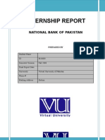 Internship Report of NBP