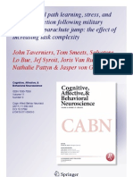 Taverniers, J., Smeets, T., Lo Bue, S., Syroit, J., Van Ruysseveldt, J., Pattyn, N., & von Grumbkow, J. (2011). Visuo-spatial path learning, stress, and cortisol secretion following military cadets' first parachute jump