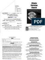 March 24, 2013 Church Bulletin