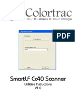 Colortrac Cx40 Utilities Service Manual