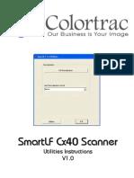 Colortrac Cx40 Utilities Service Manual