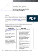 School Management Curriculum Design and Review