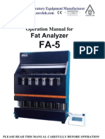 Manual de Instrucciones Fat Analizador Modelo Fa5