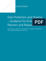 England-Data Protection and Sharing–Guidance for Emergency Planners and Responders