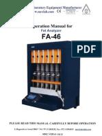 Manual Operacion Del Equipo Analizador Fa46