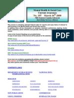 Mental Health Bulletin No 197 March 16th 2009