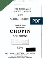 Chopin Alfred Cortot Scherzos 3&4