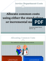 Cost Accounting_Allocating Common Cost