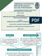 INFORME MODELOS DE GESTIÓN ADMINISTRATIVA