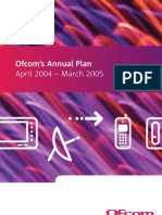 OFCOM Annual Plan 2004-2005