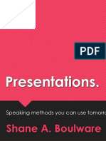Yours is a Great Presentation