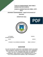 Legal Environment (Paper)