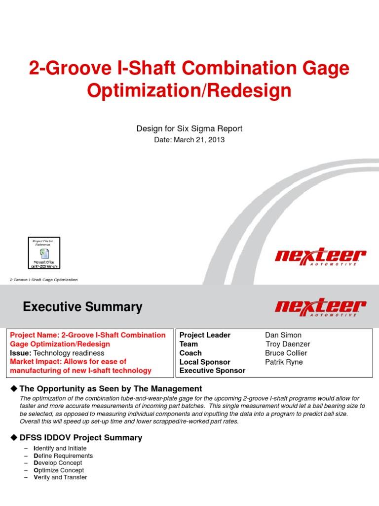 Design For Six Sigma Certification Presentation Design For Six