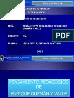 PENSAMIENTO PEDAGÓGICO ENRIQUE GUZMÁN Y VALLE