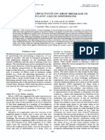 EFFECT OF SURFACTANTS ON DROP BREAKAGE IN TURBULENT LIQUID DISPERSIONS