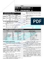 Lesson 03 - Pronouns I