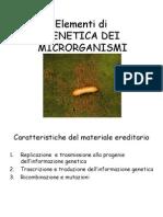 GENETICA DEI MICRORGANISMI